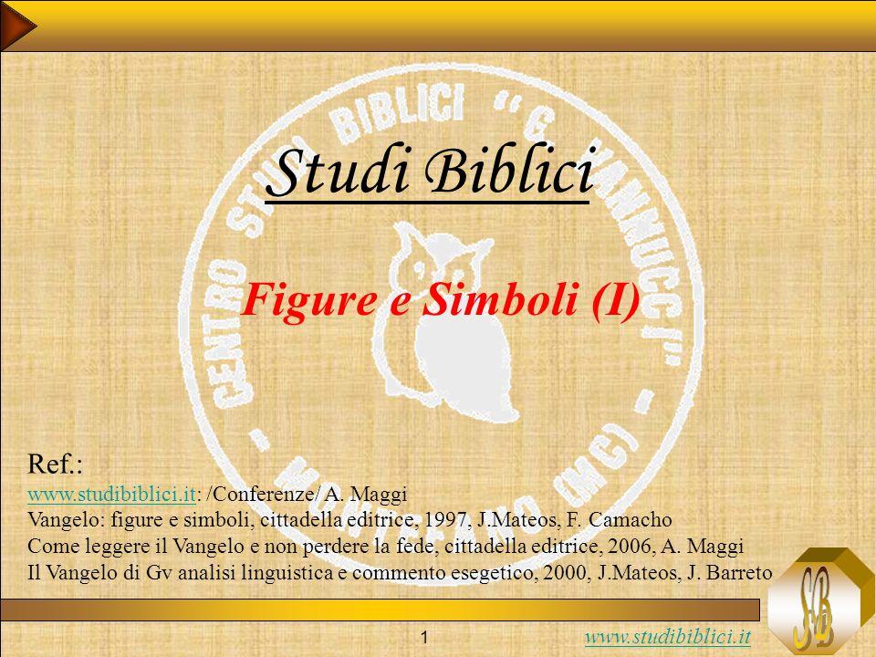 Studi Biblici Figure e Simboli (I) Ref.: