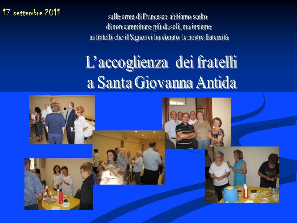17 settembre 2011 sulle orme di Francesco abbiamo scelto