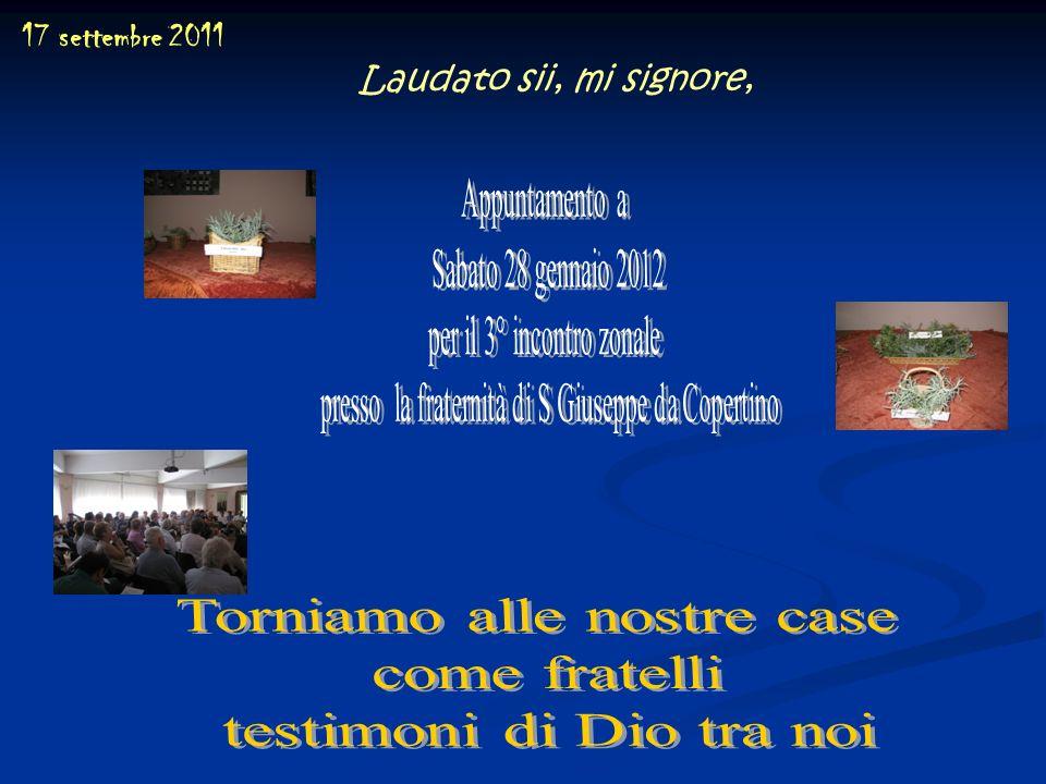 Torniamo alle nostre case come fratelli testimoni di Dio tra noi
