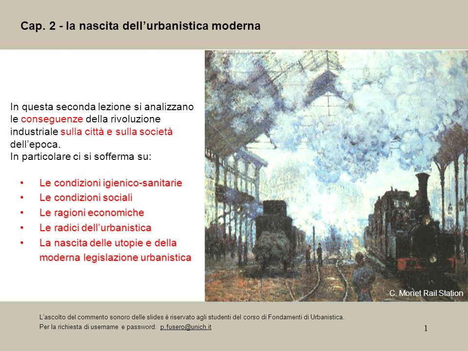 Cap. 2 - la nascita dell'urbanistica moderna