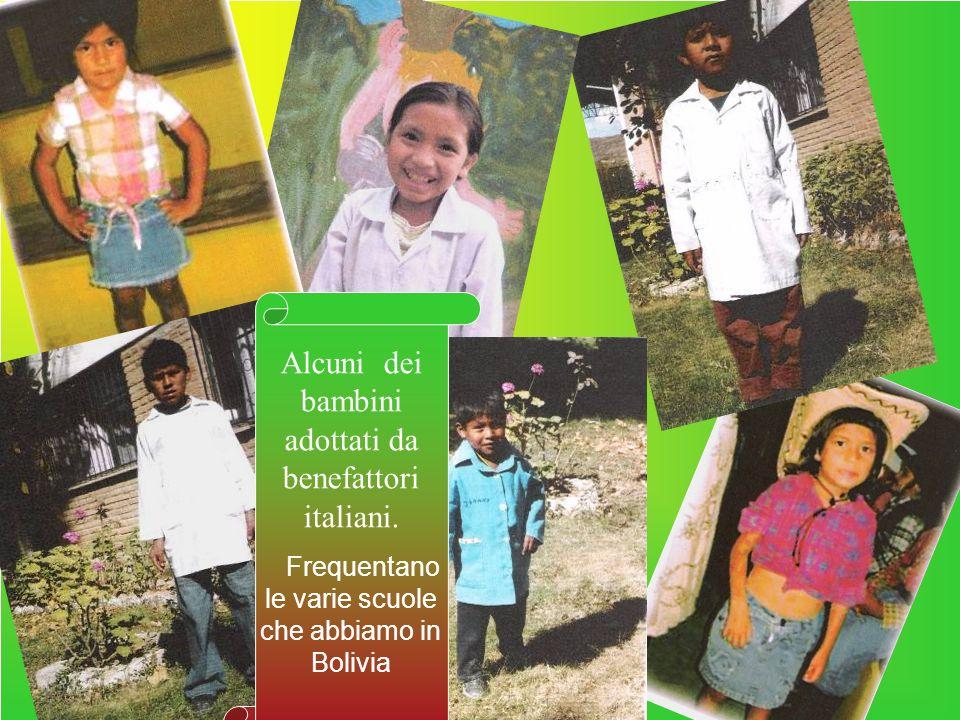 Alcuni dei bambini adottati da benefattori italiani.