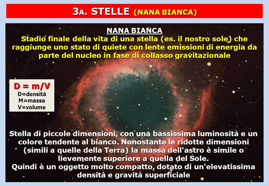 3A. STELLE (NANA BIANCA) D = m/V