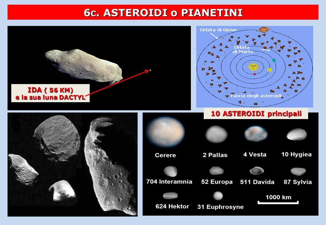6C. ASTEROIDI o PIANETINI IDA ( 56 KM) e la sua luna DACTYL