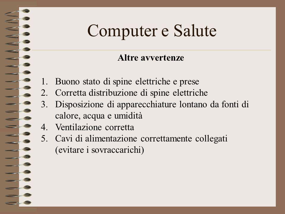 Computer e Salute Altre avvertenze