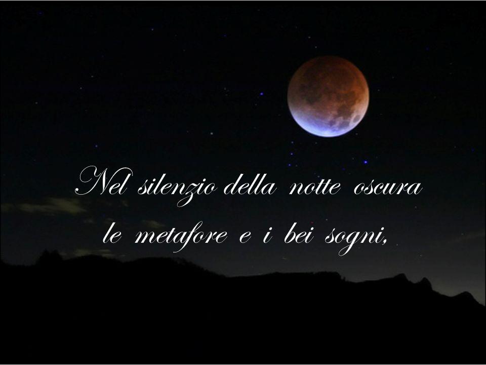 Nel silenzio della notte oscura le metafore e i bei sogni,