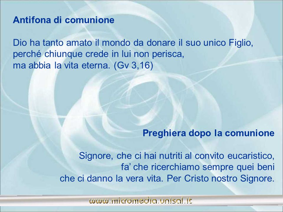 Antifona di comunione