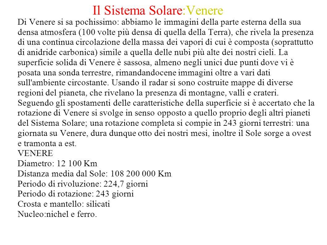 Il Sistema Solare:Venere