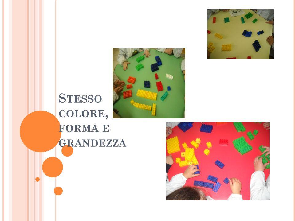 Stesso colore, forma e grandezza