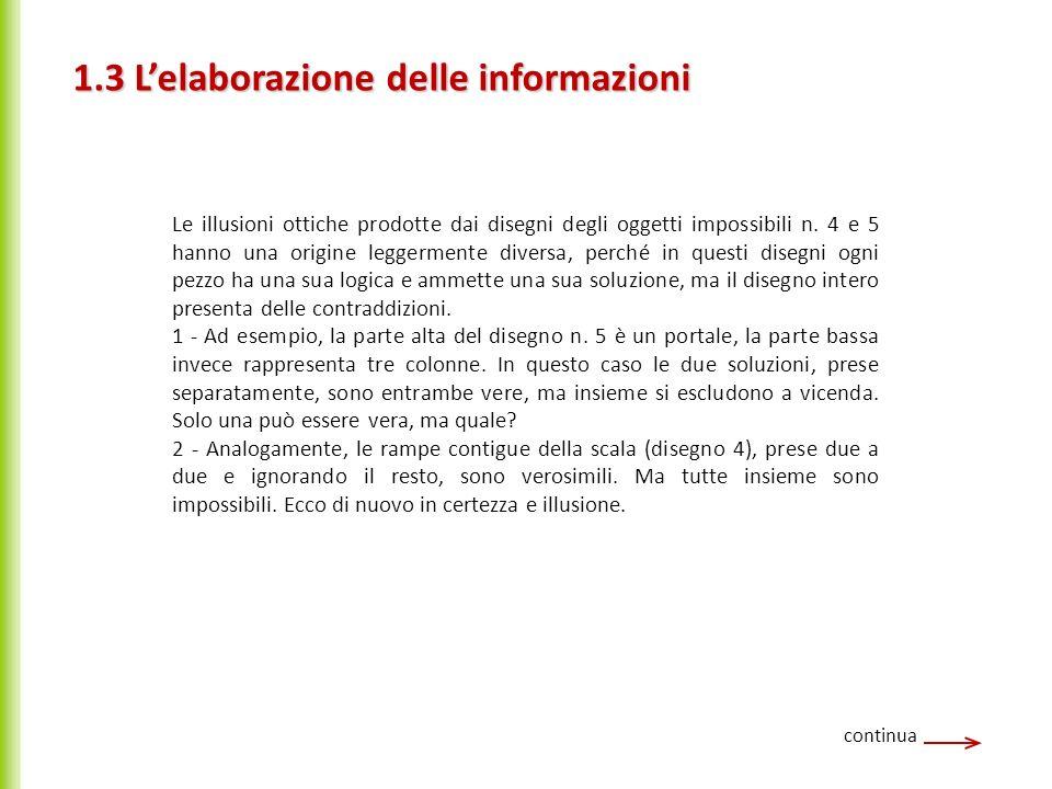 1.3 L'elaborazione delle informazioni