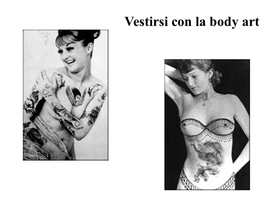 Vestirsi con la body art