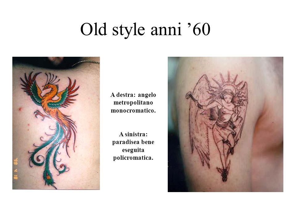 Old style anni '60 A destra: angelo metropolitano monocromatico.