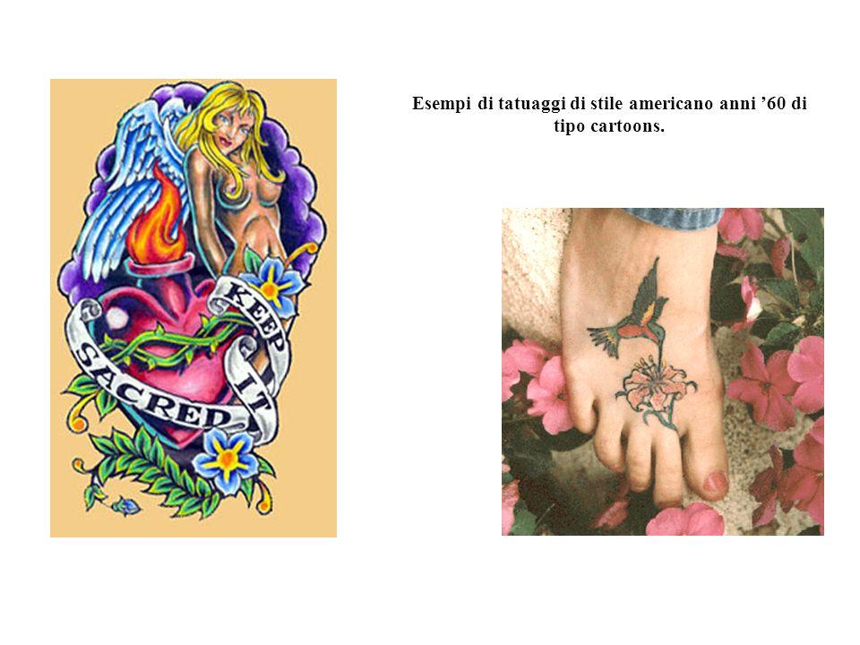 Esempi di tatuaggi di stile americano anni '60 di tipo cartoons.