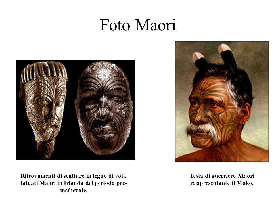 Testa di guerriero Maori rappresentante il Moko.