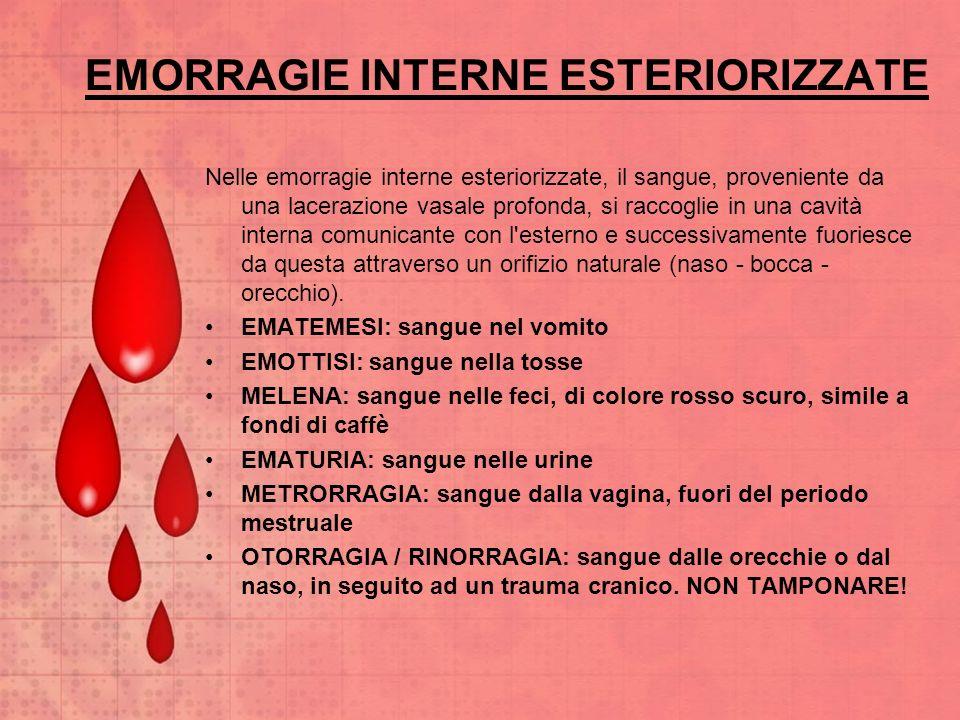 EMORRAGIE INTERNE ESTERIORIZZATE