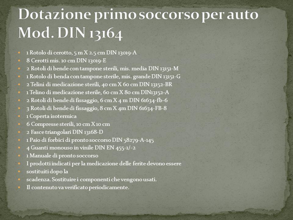 Dotazione primo soccorso per auto Mod. DIN 13164