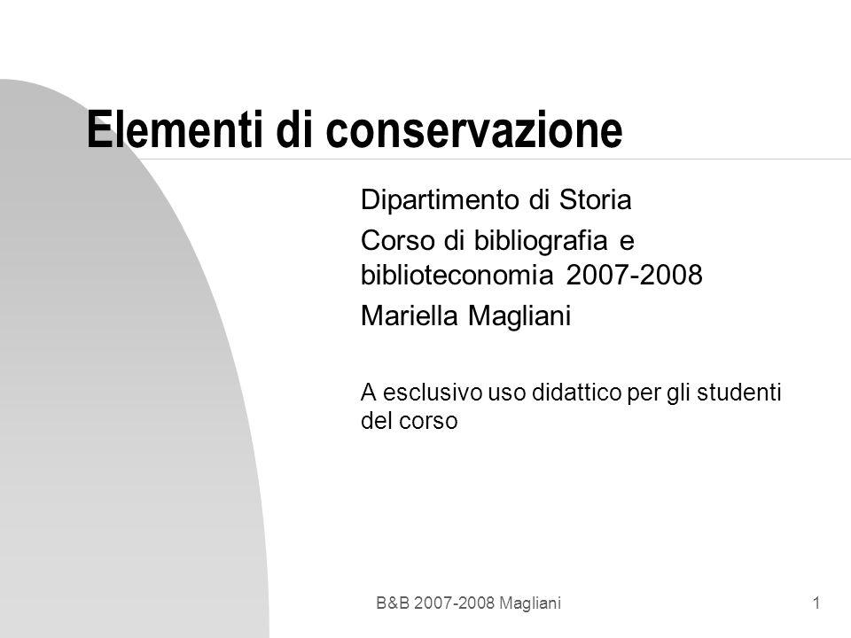 Elementi di conservazione
