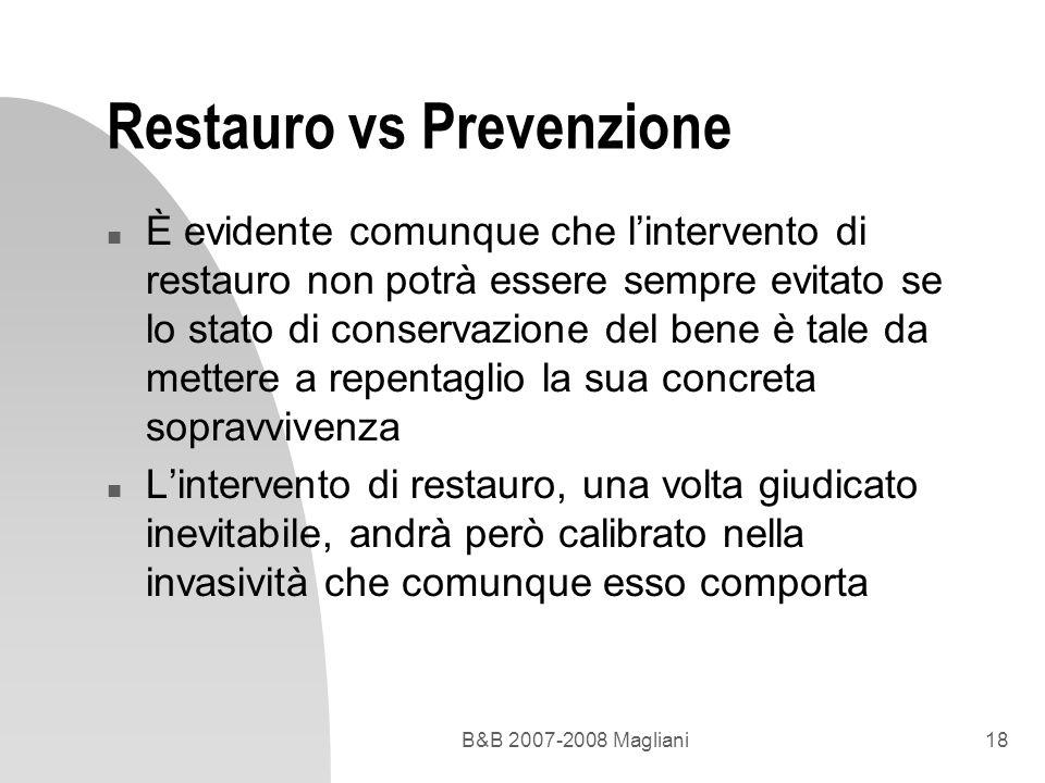 Restauro vs Prevenzione