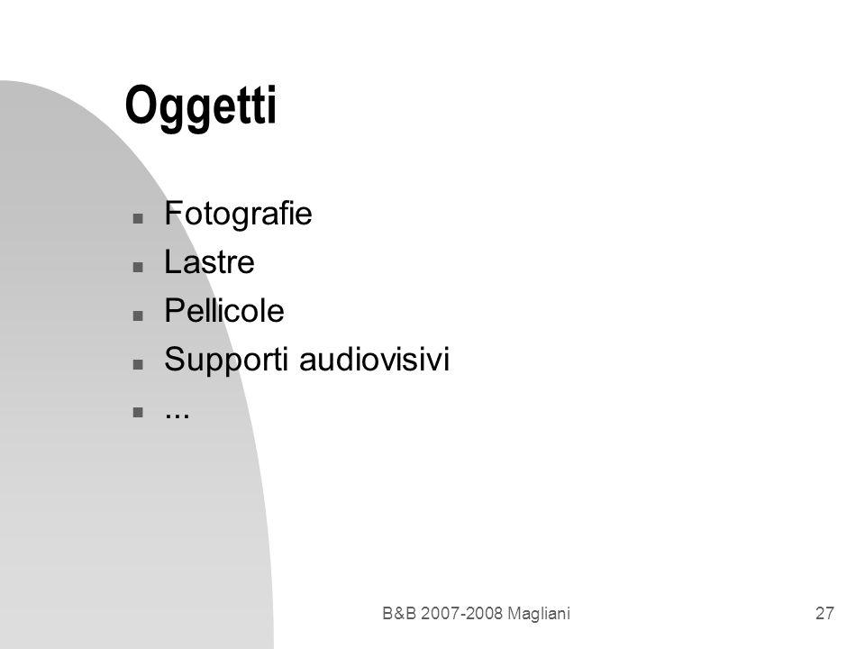 Oggetti Fotografie Lastre Pellicole Supporti audiovisivi ...