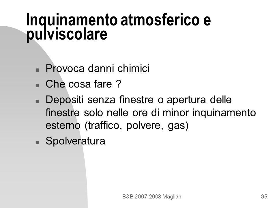 Inquinamento atmosferico e pulviscolare