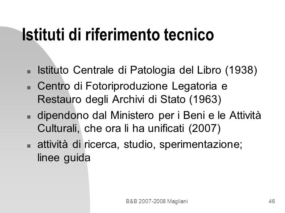 Istituti di riferimento tecnico