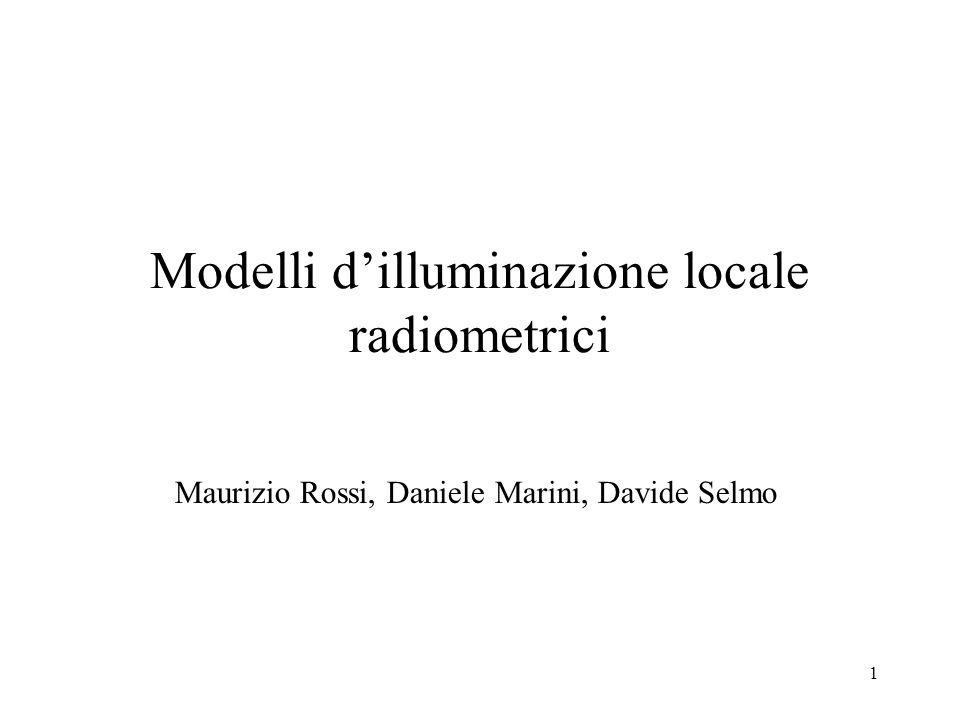Modelli d'illuminazione locale radiometrici
