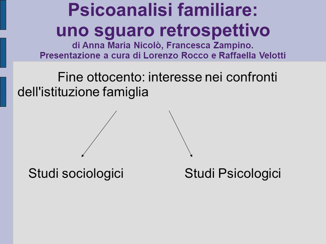 Psicoanalisi familiare: uno sguaro retrospettivo