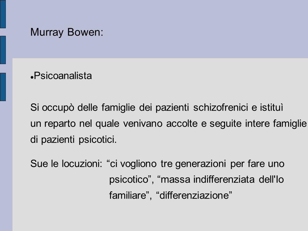 Murray Bowen: Psicoanalista