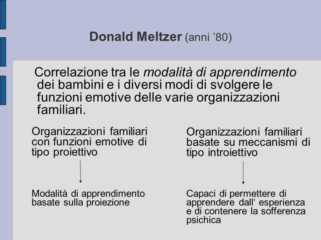 Donald Meltzer (anni '80)