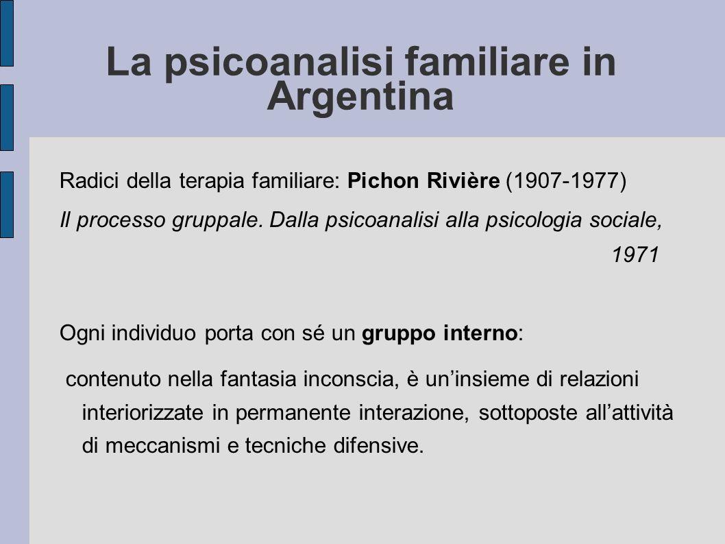 La psicoanalisi familiare in Argentina