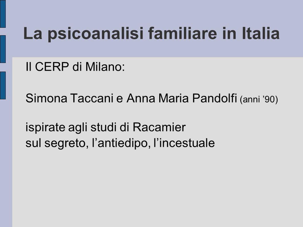 La psicoanalisi familiare in Italia