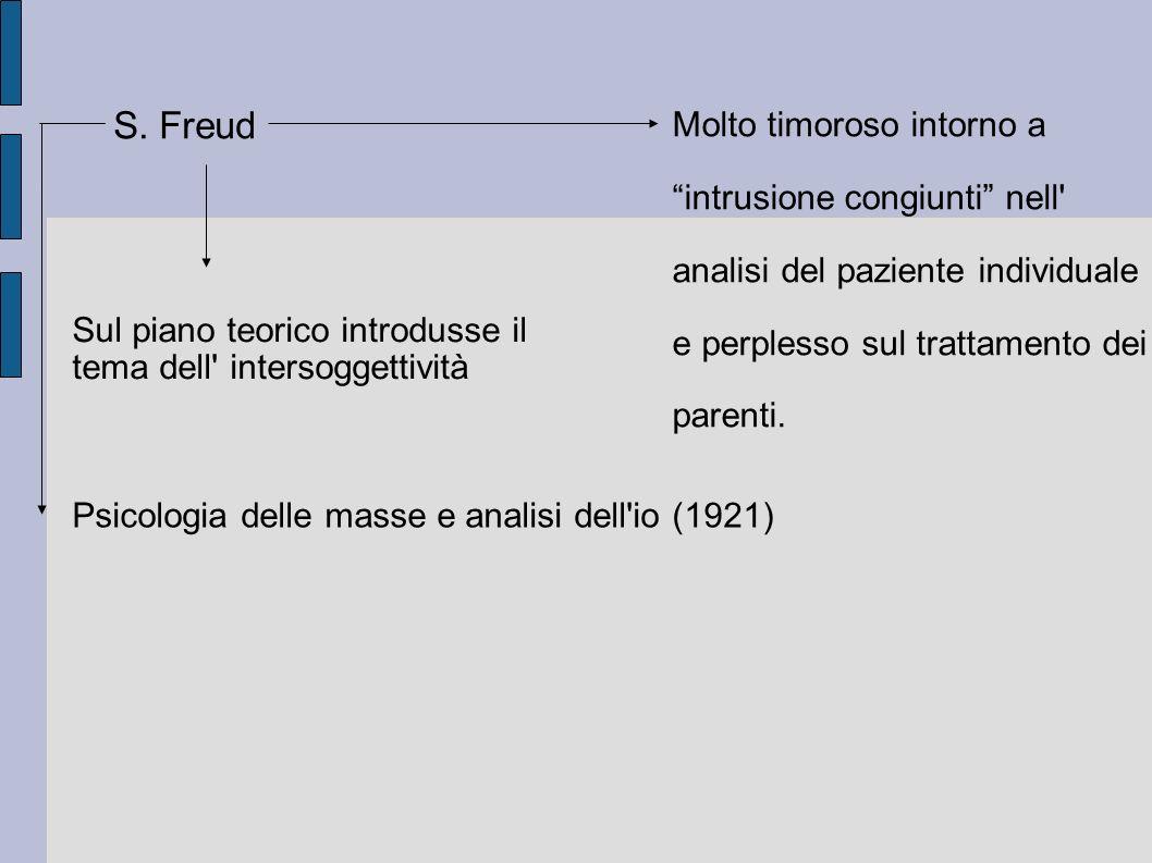 S. Freud Molto timoroso intorno a intrusione congiunti nell