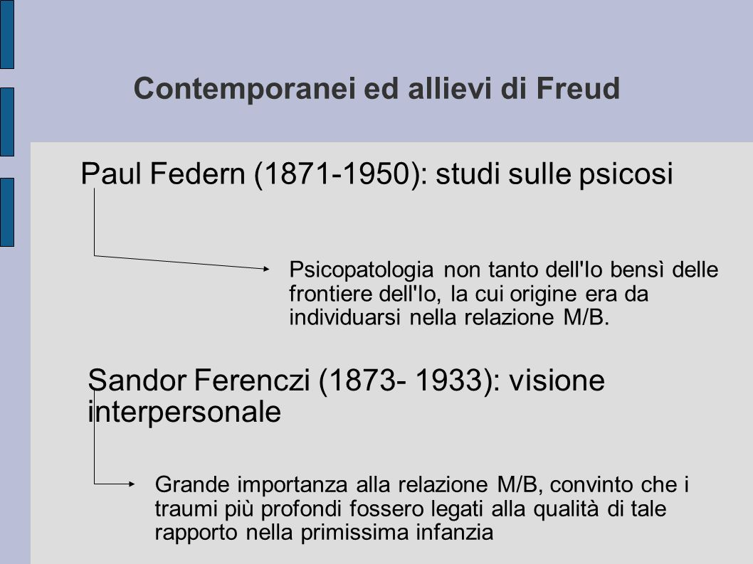 Contemporanei ed allievi di Freud
