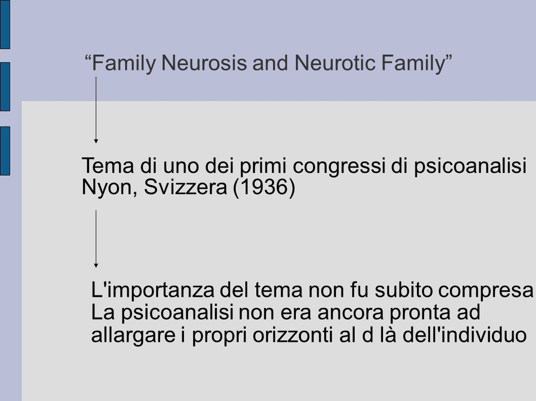 Family Neurosis and Neurotic Family