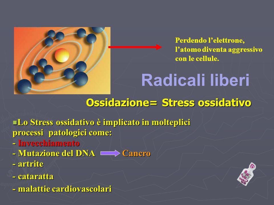 Ossidazione= Stress ossidativo