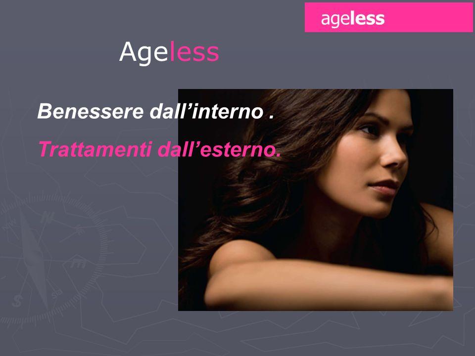 ageless Ageless Benessere dall'interno . Trattamenti dall'esterno. 40