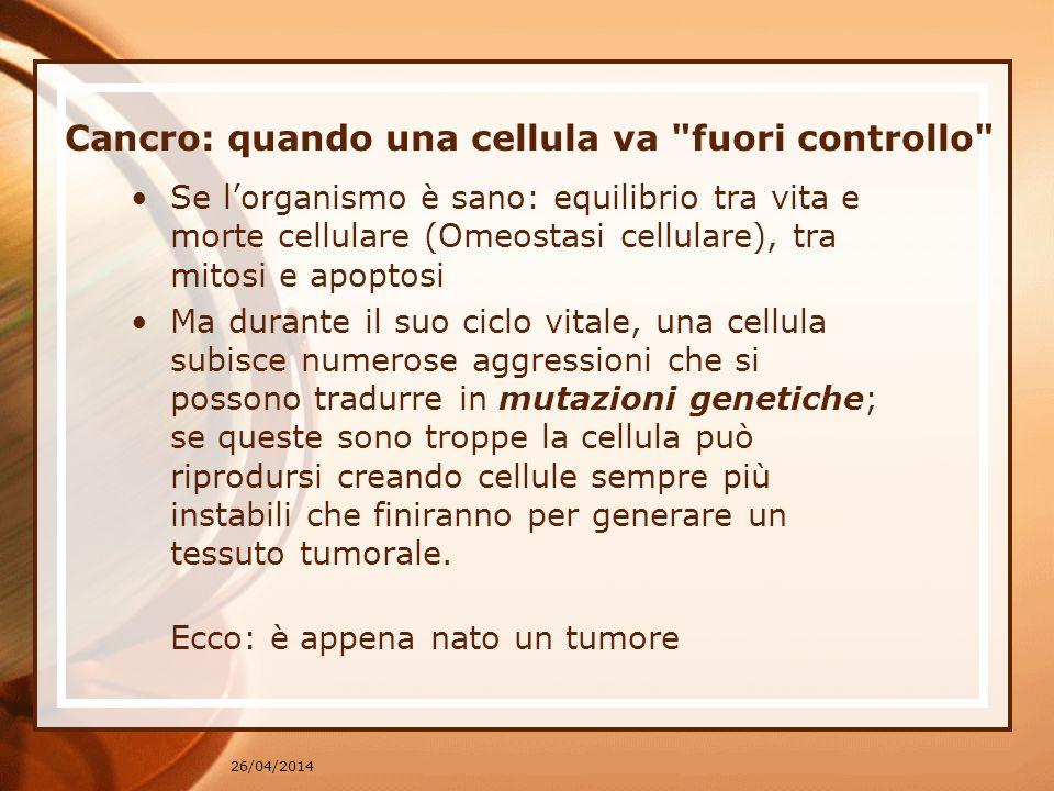 Cancro: quando una cellula va fuori controllo
