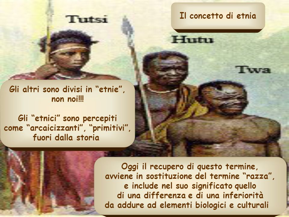 Gli altri sono divisi in etnie , non noi!!!