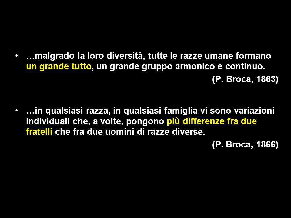 …malgrado la loro diversità, tutte le razze umane formano un grande tutto, un grande gruppo armonico e continuo.
