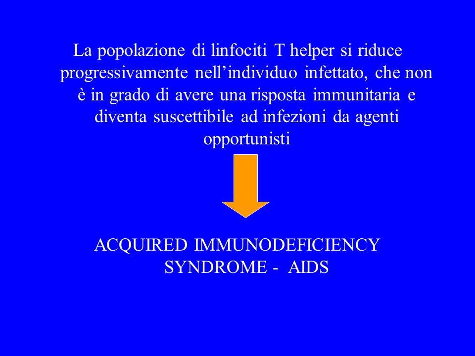 ACQUIRED IMMUNODEFICIENCY SYNDROME - AIDS