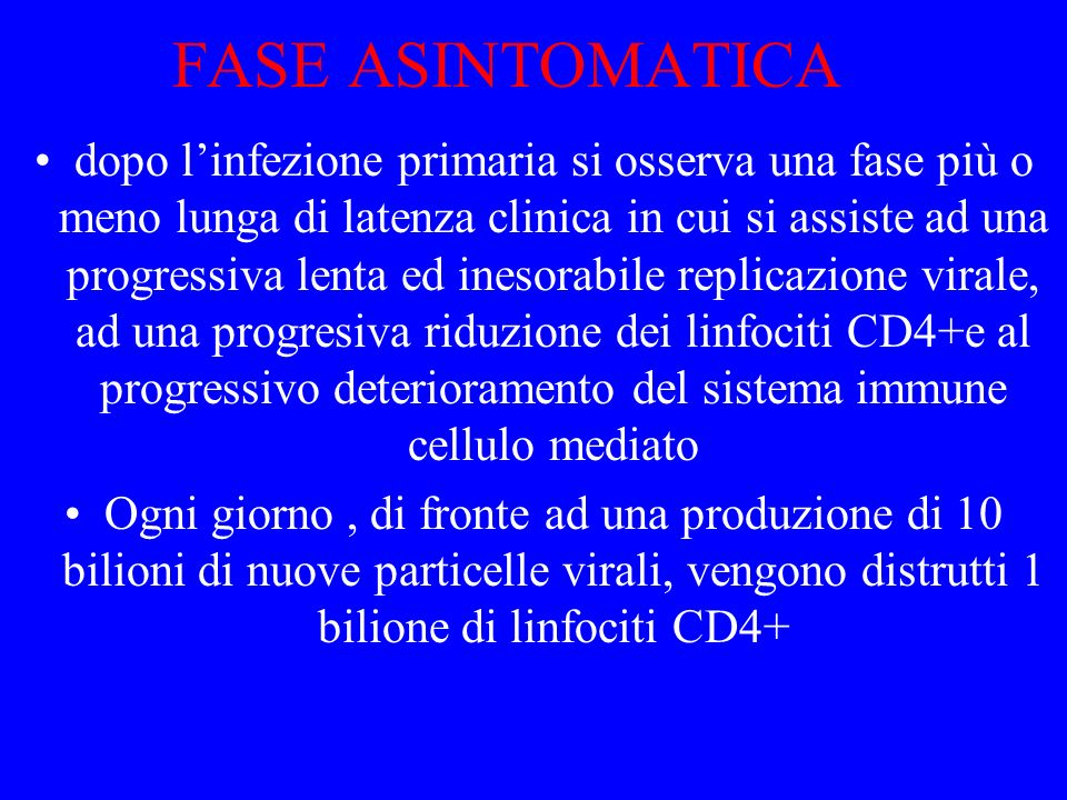 FASE ASINTOMATICA