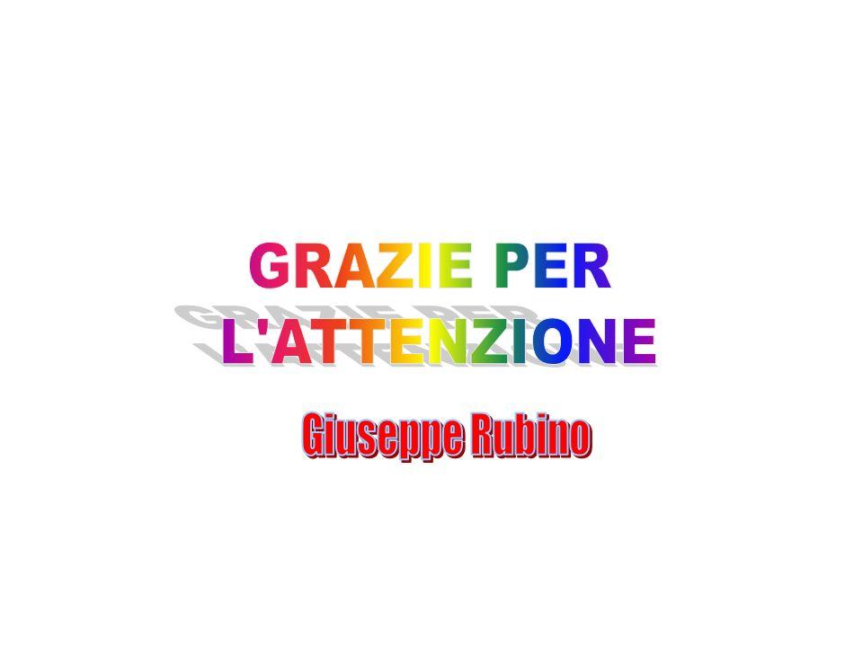 GRAZIE PER L ATTENZIONE Giuseppe Rubino