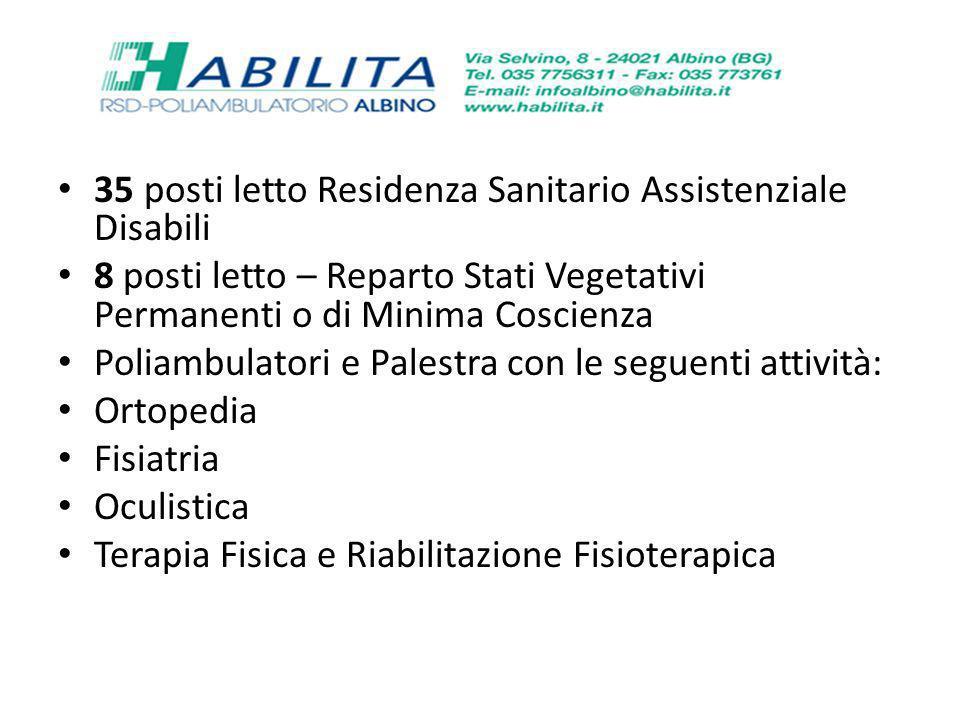 35 posti letto Residenza Sanitario Assistenziale Disabili