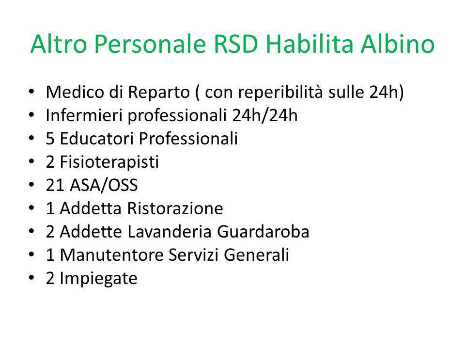 Altro Personale RSD Habilita Albino