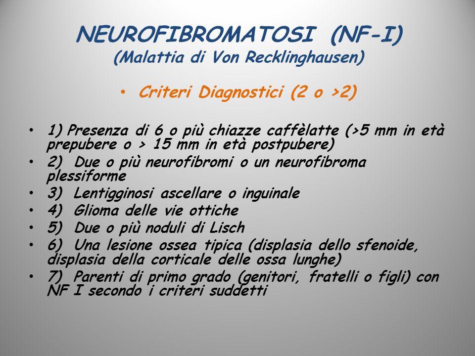 NEUROFIBROMATOSI (NF-I) (Malattia di Von Recklinghausen)