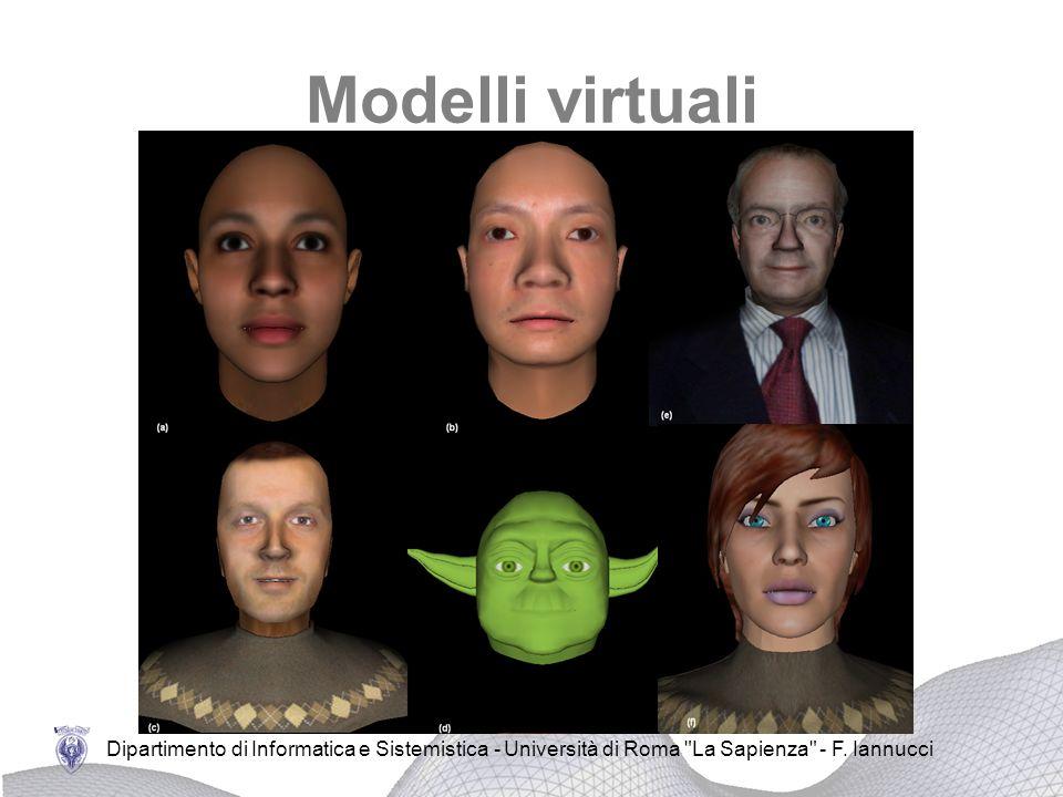 Modelli virtuali Dipartimento di Informatica e Sistemistica - Università di Roma La Sapienza - F.