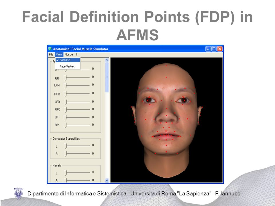 Facial Definition Points (FDP) in AFMS