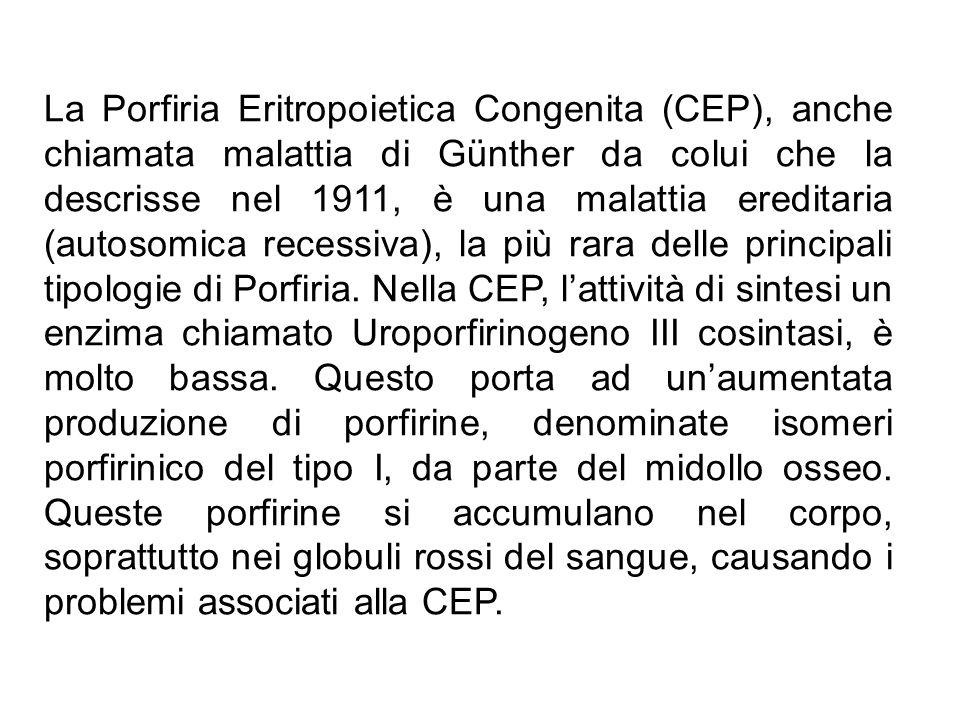 La Porfiria Eritropoietica Congenita (CEP), anche chiamata malattia di Günther da colui che la descrisse nel 1911, è una malattia ereditaria (autosomica recessiva), la più rara delle principali tipologie di Porfiria.