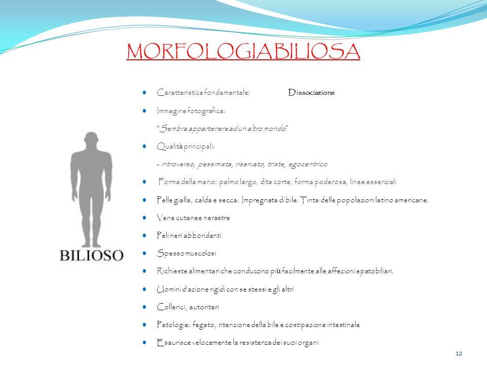 MORFOLOGIA BILIOSA ● Caratteristica fondamentale: Dissociazione
