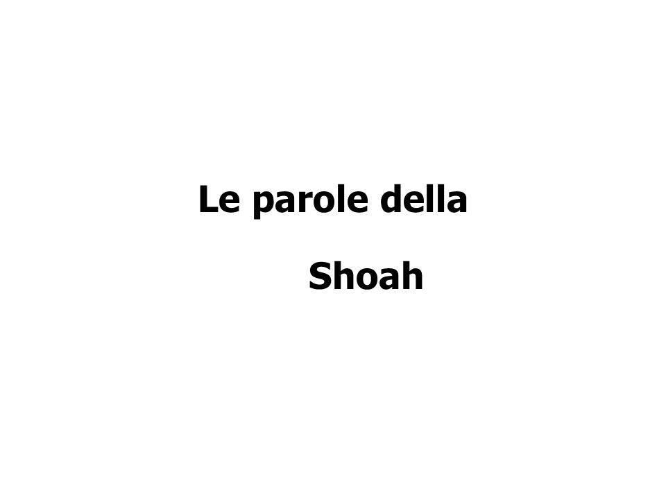 Le parole della Shoah