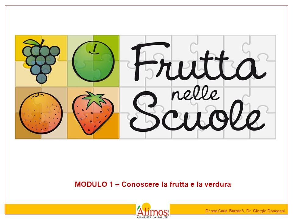 MODULO 1 – Conoscere la frutta e la verdura